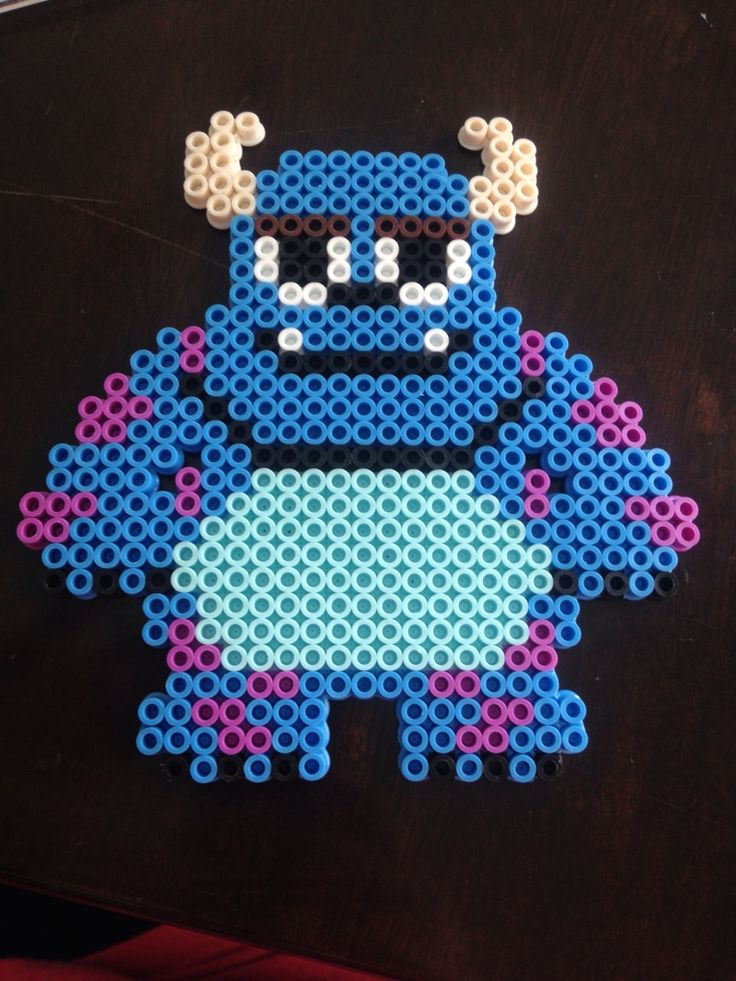 Sully from Monsters Inc. perler bead