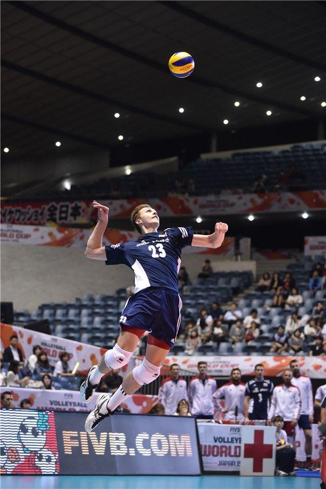 Mateusz Bieniek (#23) - najlepszy gracz w meczu Polska-USA (3:1)  Puchar Świata w Piłce Siatkowej Mężczyzn 2015