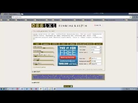 Editor CSS en Linea http://www.dattahome.com/