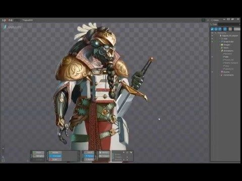 Spine 2d Animation test of Oglyad