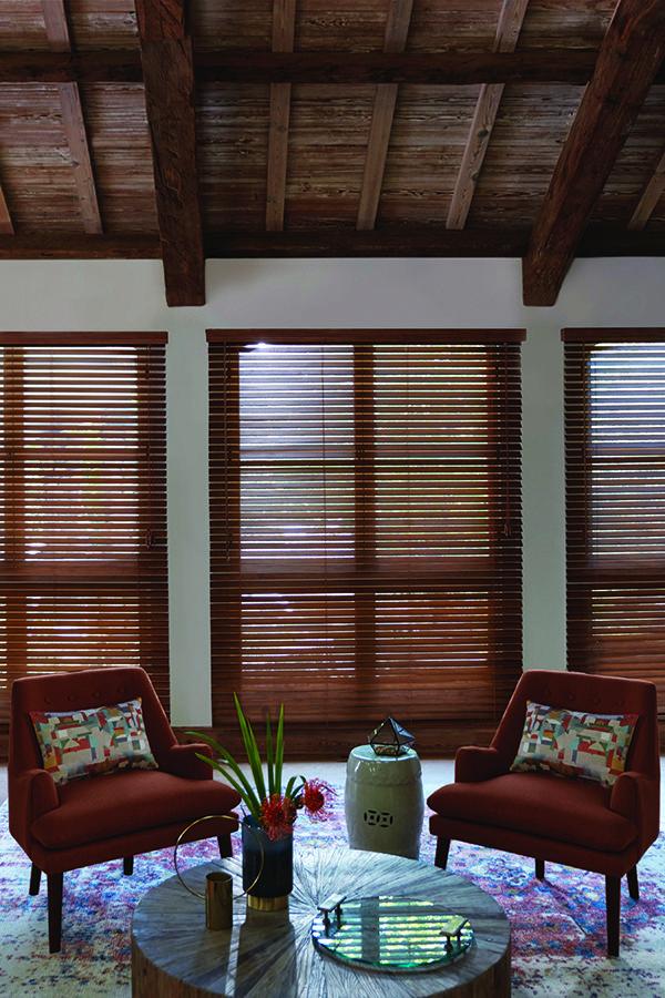 Levolor Custom Real Wood Blinds In Estate Oak Blinds Wood