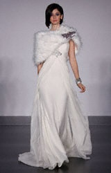 i love the way it moves.   platinum for Priscilla of Boston  #wedding, #bridal