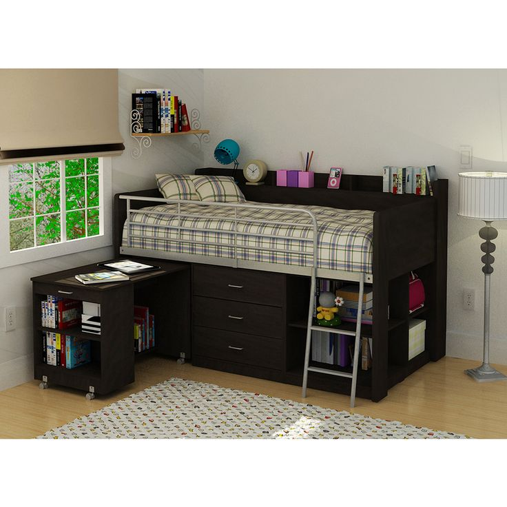 Clairmont Rack Espresso Twin Loft Bed - Overstock™ Shopping - Great Deals on Beds