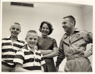 Gus Grissom and family, 1965 #science #space #astronaut