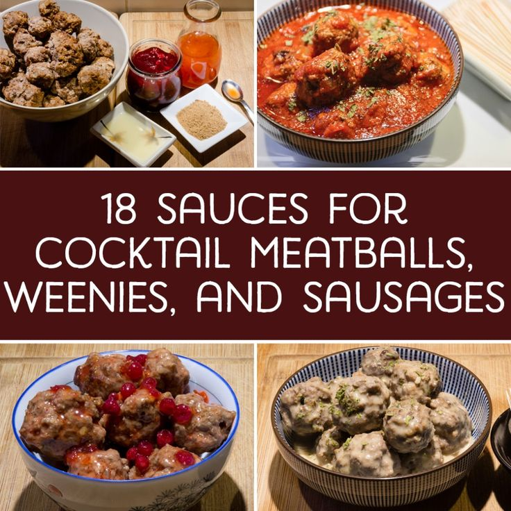 Cocktail meatballs, weenies, and sausages are easy to make and quick to disappear! These recipes are great for parties and other gatherings.