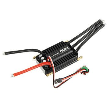 FlyColor Waterproof Brushless 150A ESC With 5.5V / 5A 2-6s BEC For RC Boat Sale - Banggood.com