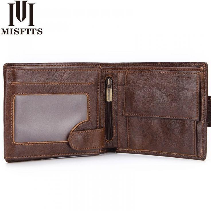 Cartera de cuero para hombre genuine leather men/'s wallet quality