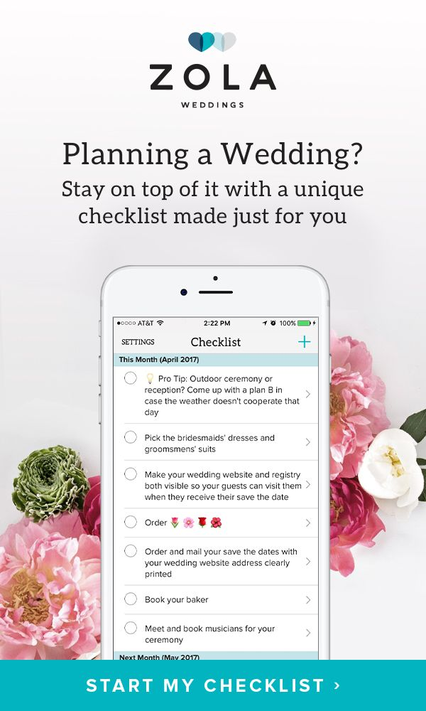 No two weddings are the same. Why should the checklists be? We'll build a unique one just for you that you can customize with your own tasks. We'll notify you anytime something needs to get done, too.