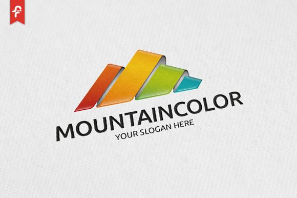 Mountain Color Logo by ft.studio on Creative Market