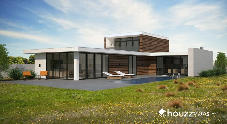 Boyce - Modern Contemporary House Plan .... Browse all house plans here: www.houzzplans.co.nz