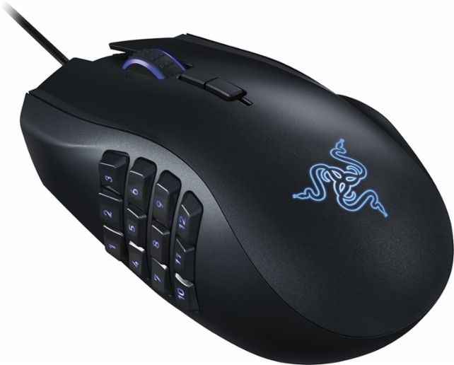 Razer - Naga Chroma USB MMO Gaming Mouse - Black - Angle Zoom