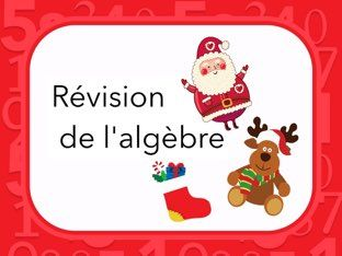Révision des notions algébriques de base                                                                                                                                                                                 Plus