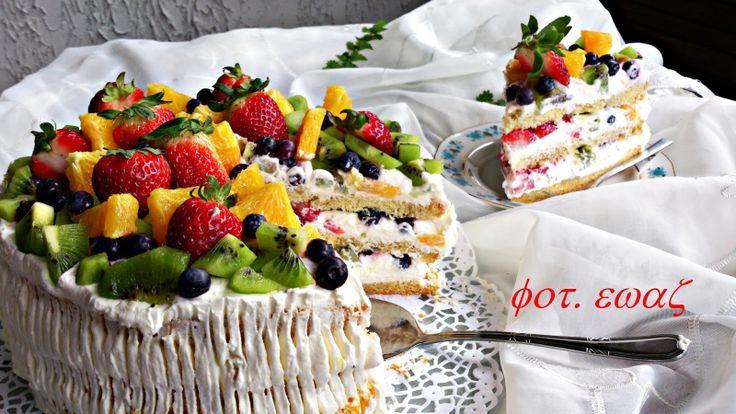 Ewa w kuchni: Tort owocowy mega kolorowy