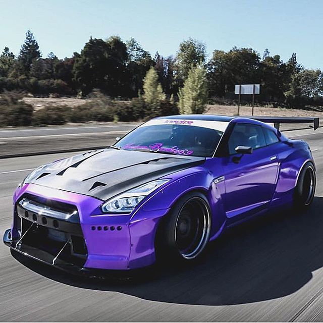 Purple GTF with carbon fiber hood yesssss works so well together