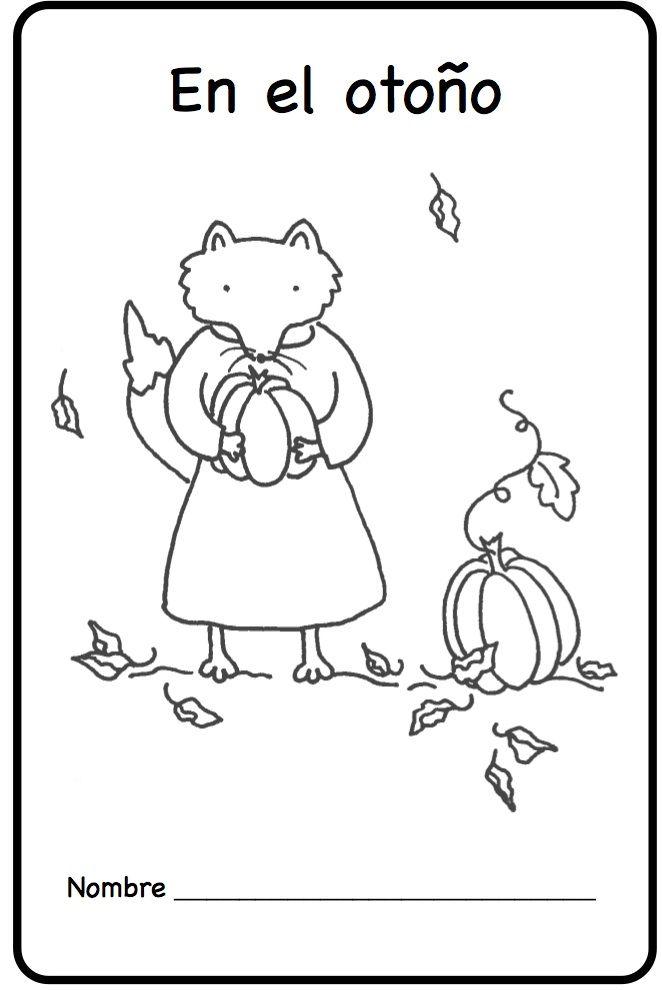 En el otoño Fall Autumn Printable Spanish Minibook