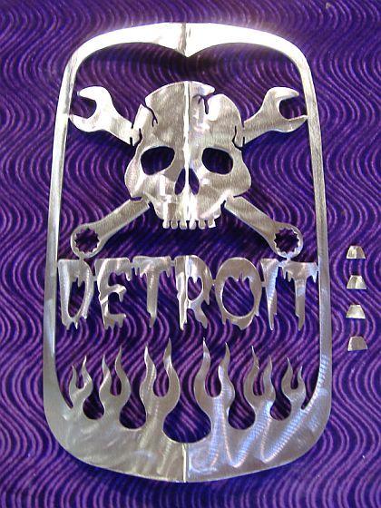 Speed Cult Of Detroit Mi Badass Plasma Cut Outs Metal