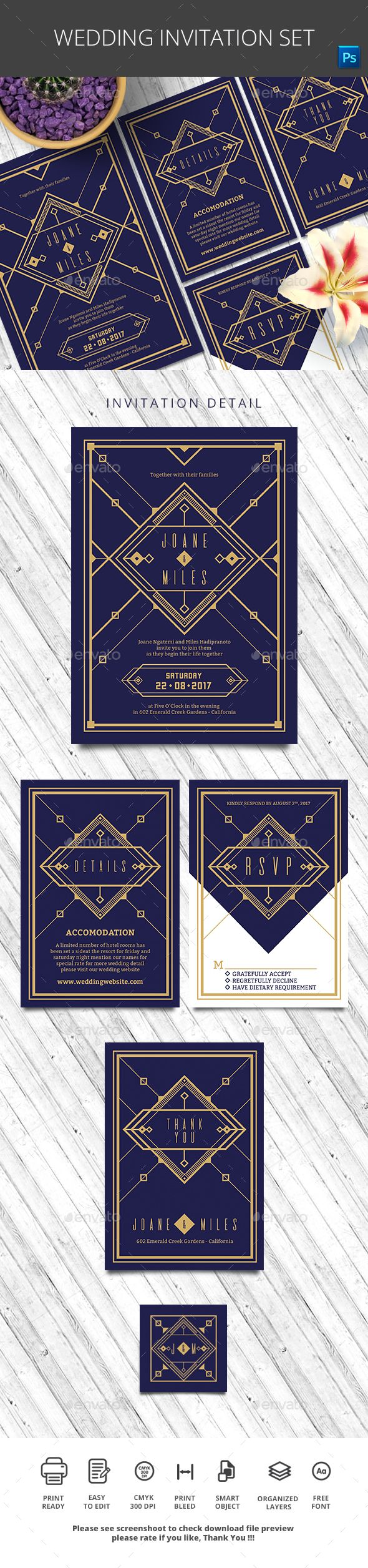 wedding invitation template themeforest%0A Wedding Invitation Set