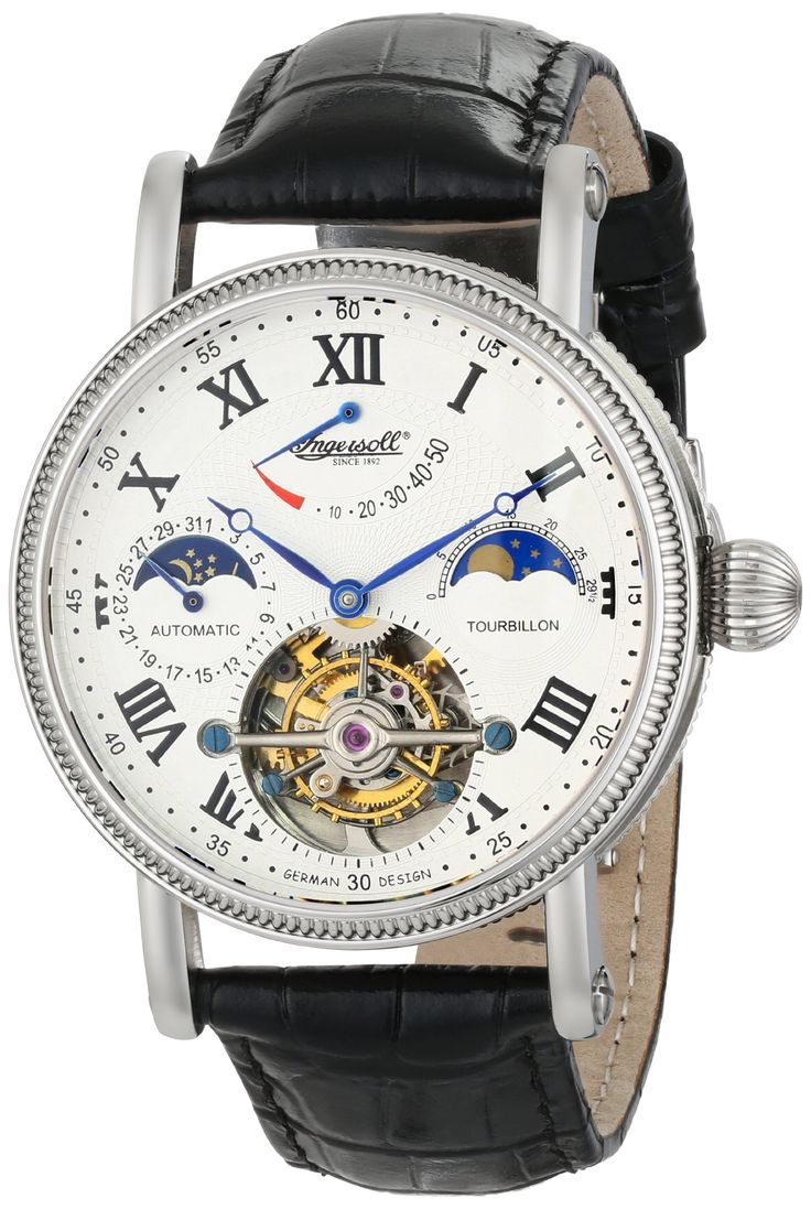 Ingersoll Men's IN5101WH Sonoma Tourbillon Analog Display Chinese Automatic Black Watch