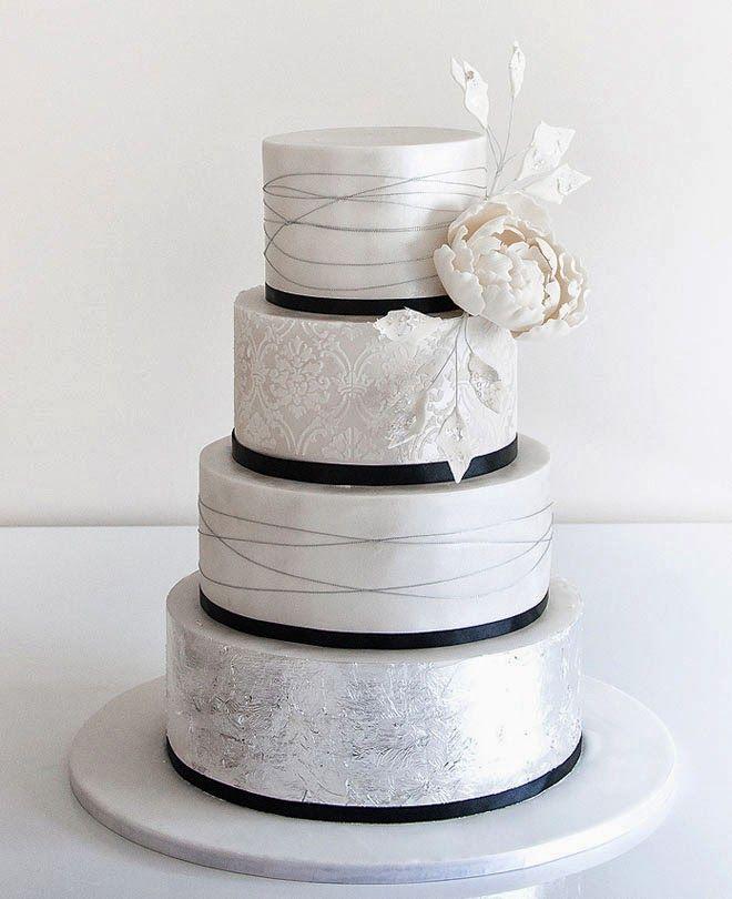 12 Glamorous Metallic Wedding Cakes - Belle The Magazine