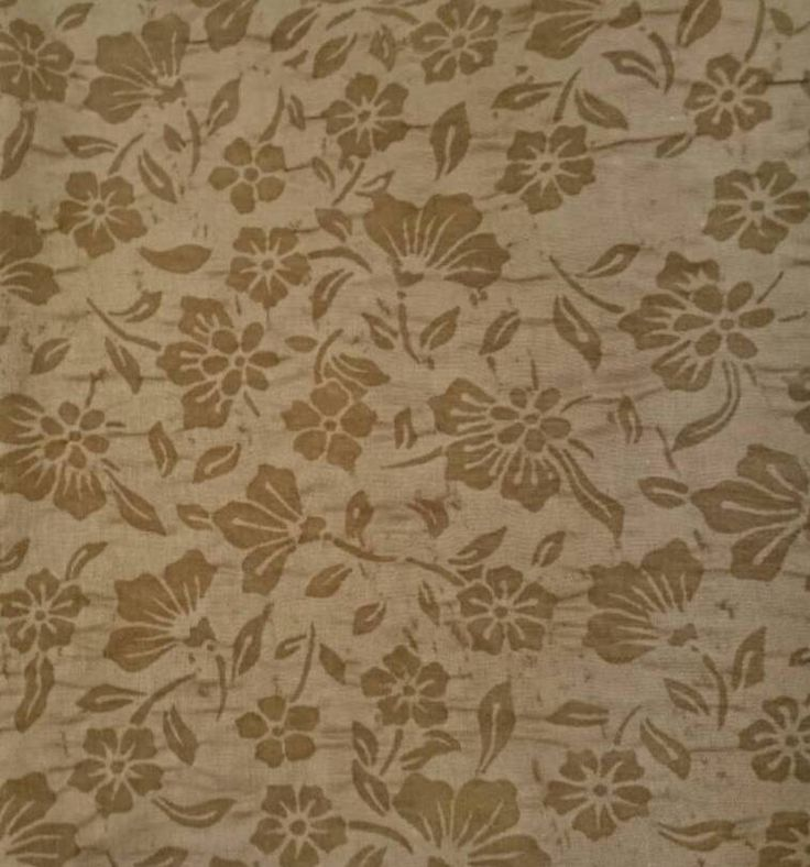 Floral brown embossed fabric