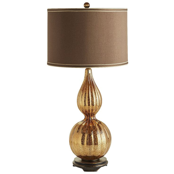 Gold katrina table lamp polyester