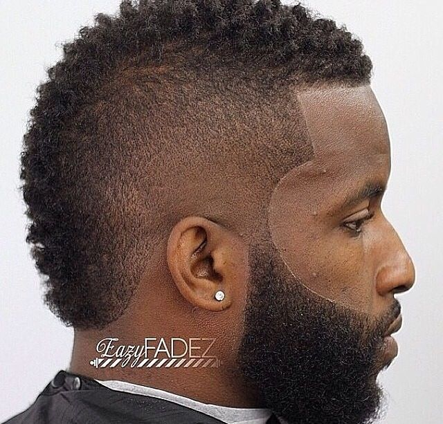Clean frohawk with nice beard work. | Black Men Haircuts. | Pinterest ...