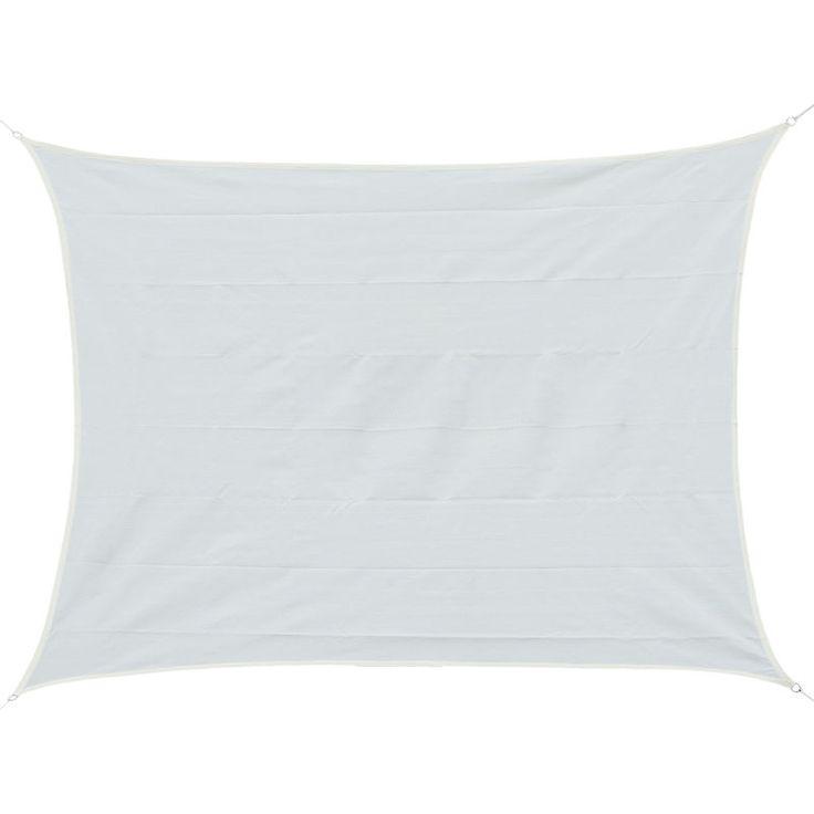 Voile d'ombrage rectangulaire 4 x 6 m toile solaire taud de soleil crème – …