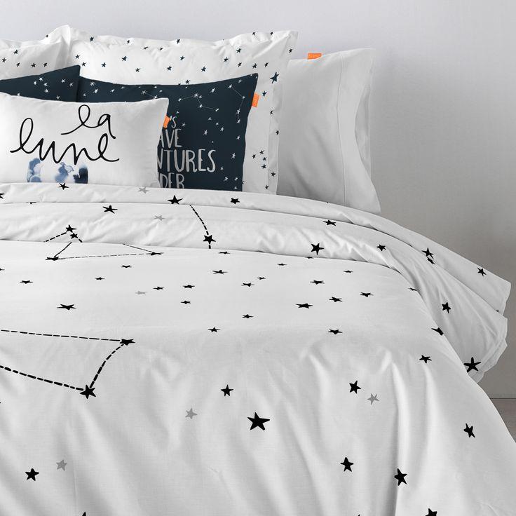 Blanc Constellation Single Duvet Cover | ACHICA