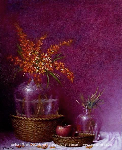 The Art of Waheed Nasir - StillLife With Apple - 2