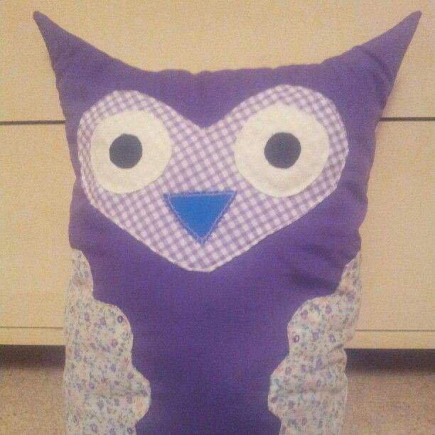 Owl cushion - Blue
