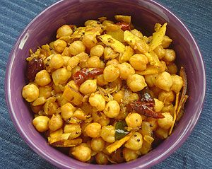 gonna make this tonight....Kadala Thel dala (Stir-fired Chickpeas) : Sri Lanka Recipes : Malini's Kitchen