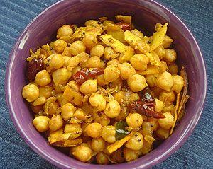 gonna make this tonight....Kadala Thel dala (Stir-fired Chickpeas) : Sri Lanka Recipes : Malini's Kitchen