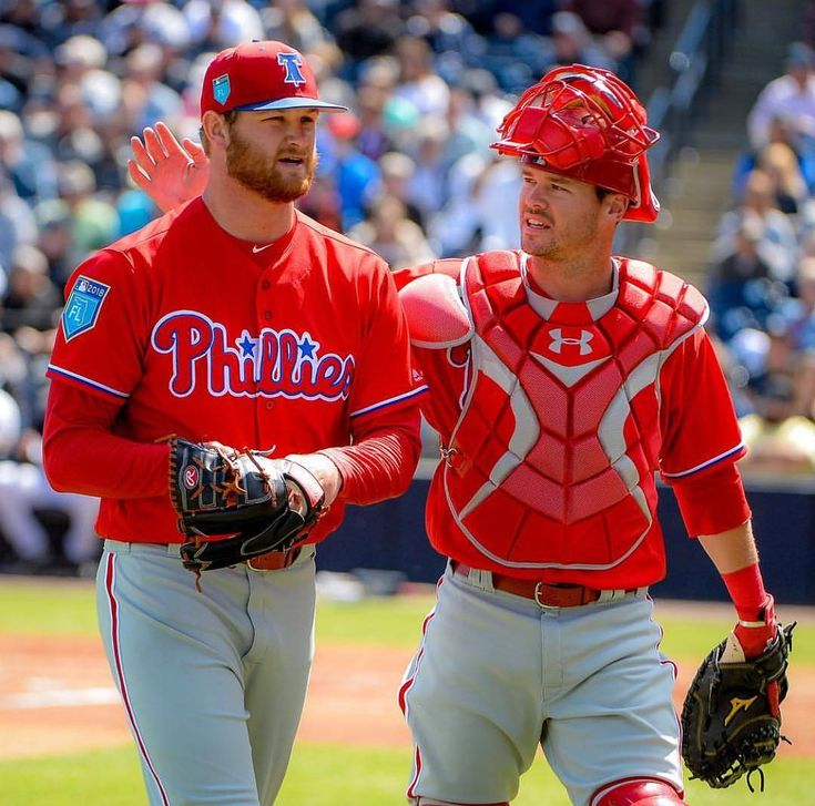 The Phils won todays Spring Training game against the Yankees 7-6. Ben Lively allowed 3 ERs in 4 IP. Adam Morgan threw 2 innings allowing 1 hit and getting 2 SOs. At the plate Mitch Walding hit a 2-run double and ended the day with 2 RBIs. Tomorrows game is at 1:05 vs the Pirates. . . . #MLB #MiLB #Baseball #BaseballSeason #Phillies #philadelphia #philadelphiaphillies #Yankees #NewYork #BenLively #AdamMorgan #MitchWalding