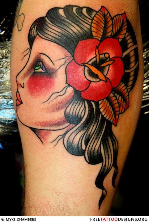 Traditional old school tattoos gypsy anchor ship pin for Tattoo school listings