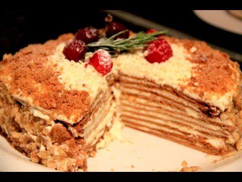 """Honey Cake Recipe - Медовый торт, Невероятно вкусный """"Медовик"""" - YouTube"""