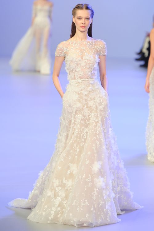 Wedding dresses at paris haute couture fashion week for Haute couture wedding dresses