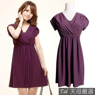 Fold cross- lapel collar short-sleeved purple dress: Secret Styles, Purple Dresses, Collars Shorts Sleeve, Beauty Clothing, Folding Crosses, Shorts Sleeve Purple, Purple Rulz, Lapel Collars, Dresses Everyday
