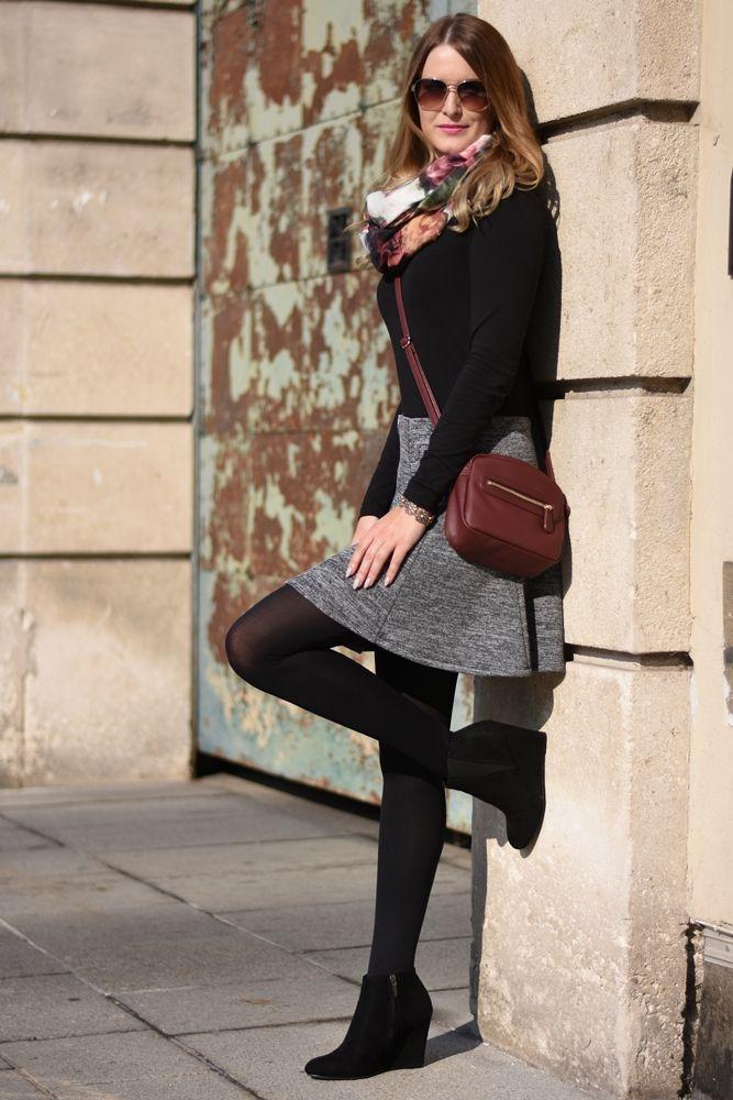 494f27f72421 Grey Skirt #ootd | Mode | Grauen rock, Graue rock outfits und Rock ...
