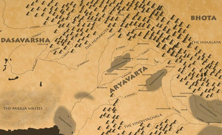 Official Map for Book 1 of Scrolls of Aryavarta