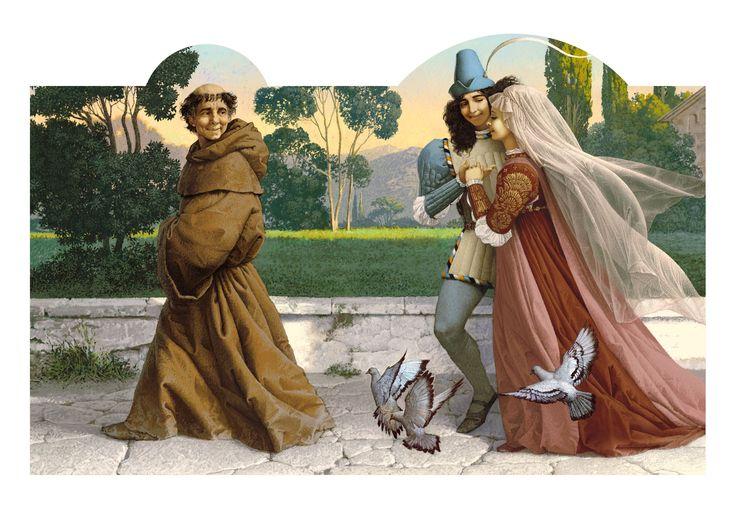 Сообщество иллюстраторов | Иллюстрация Венчание. Ромео и Джульетта.