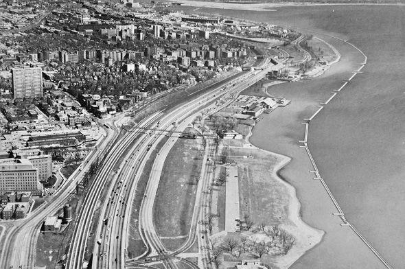 What Sunnyside looked like before the Gardiner arrived The Gardiner runs through it, 1960s
