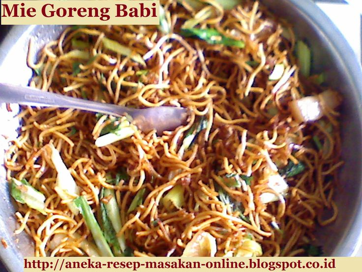 Mie Goreng Babi ala Armol's Kitchen  Yuk simak resepnya http://aneka-resep-masakan-online.blogspot.com/2015/05/resep-mie-goreng-babi.html