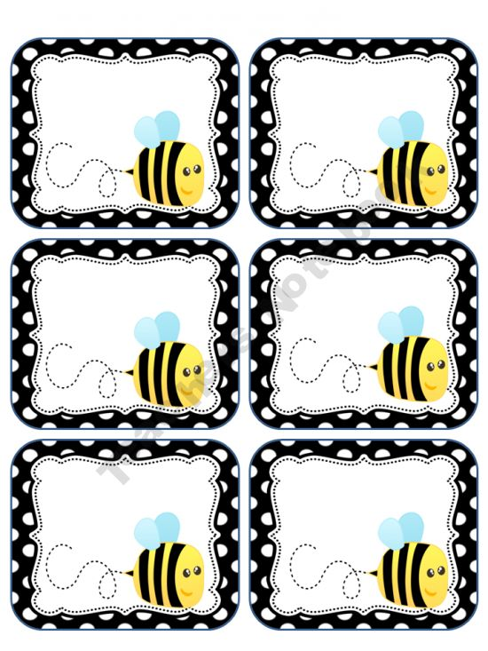 FREE Bee Labels @tonyaperniciaro