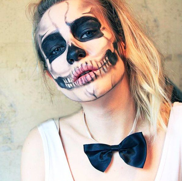 Pin for Later: British Bloggers Know How to Get Spooky For Halloween! Katie Snooks as a Skeleton