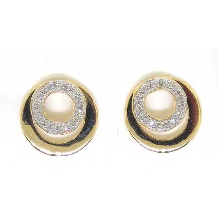 0.10CTW ROUND DIAMOND LADIES CIRCLE EARRINGS