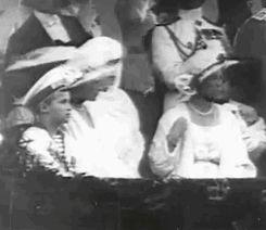 """Grand Duchess Olga Nikolaevna, Grand Duchess Tatiana Nikolaevna and Tsarevich Alexei Nikolaevich in Romania, 1914 """
