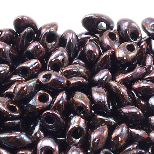 Miyuki 4x7mm Long Magatama Seed Beads - Metallic Dark Raspberry - 10 Grams for £2.95