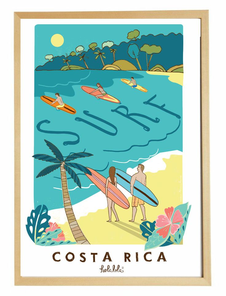 63 best lolas products images on pinterest costa rica greeting surfs up surfing paradise poster costa rica holalola m4hsunfo