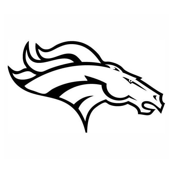 Denver Bronco Broncos  football sports silhouette Decal vinyl Sticker Car Window Wall Laptop . $7.50, via Etsy.