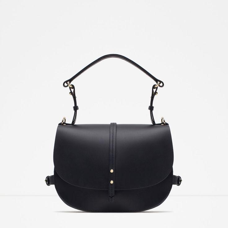 ZARA - NEW IN - LEATHER MESSENGER BAG | BAGS | Pinterest | Zara ...